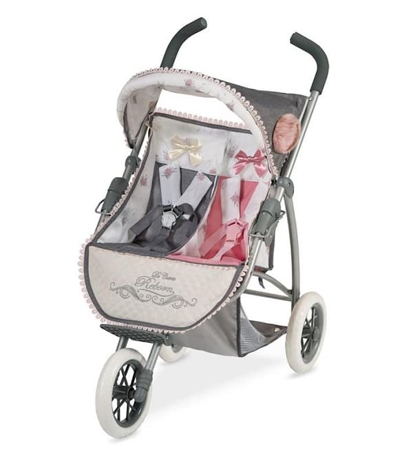silla de paseo gemelar bebés Reborn