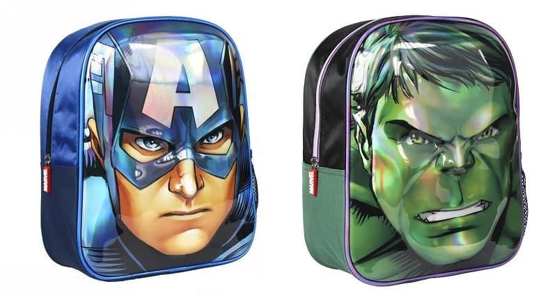 Mochila Capitán América y Hulk