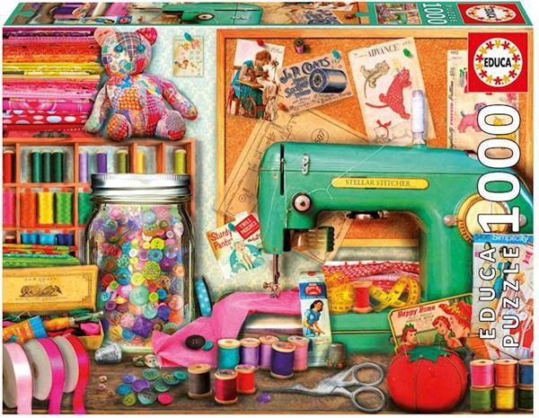 Imagen de Puzzle de 1000 piezas rincón de costura de Educa