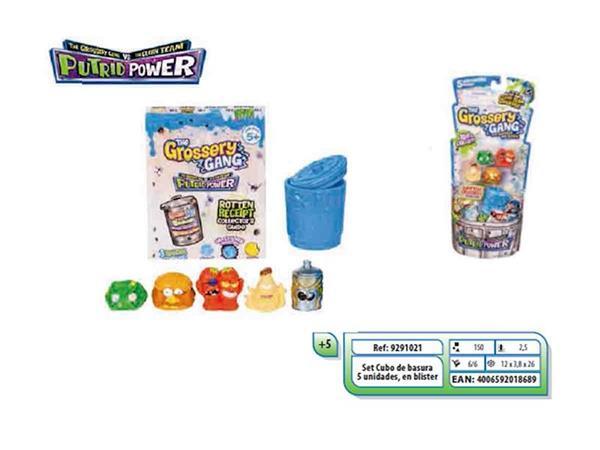 Imagen de Grossery Gang cubo de basura 5 figuras Simba Smoby