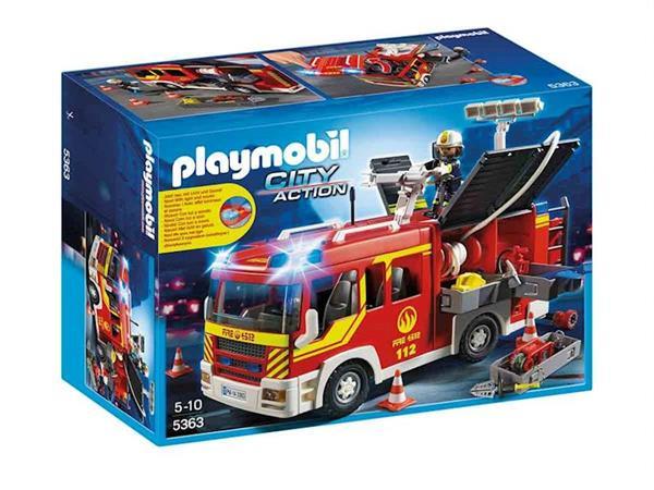 Imagen de Playmobil City Action Camión de Bomberos con luces y sonidos