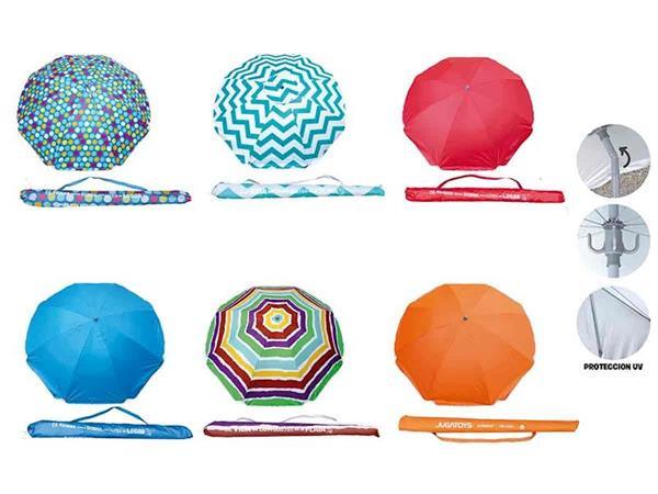 Imagen de Parasol Polinylon 180 Cm Con Percha Varios Modelos Creaciones Llopis
