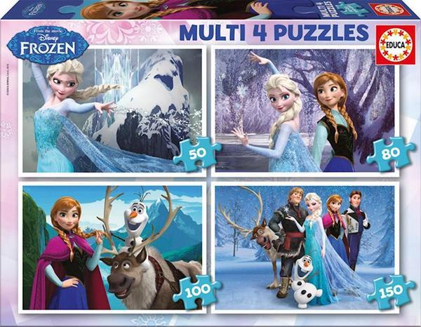 Imagen de Puzzle Multi 4 Puzzles Frozen Educa