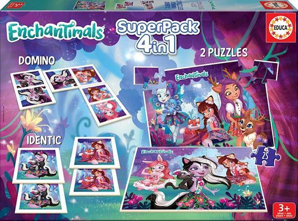 Imagen de Superpack Puzzle 4 En 1 Enchantimals Educa