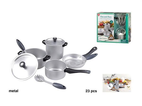 Imagen de Set Accesorios Cocina Metal 9 Piezas Color Baby