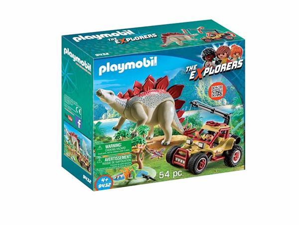 Imagen de Playmobil The Explorers Vehículo Explorador con Estegosaurio