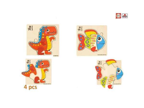 Imagen de Puzzle Mosaico Madera 6 Piezas Educa