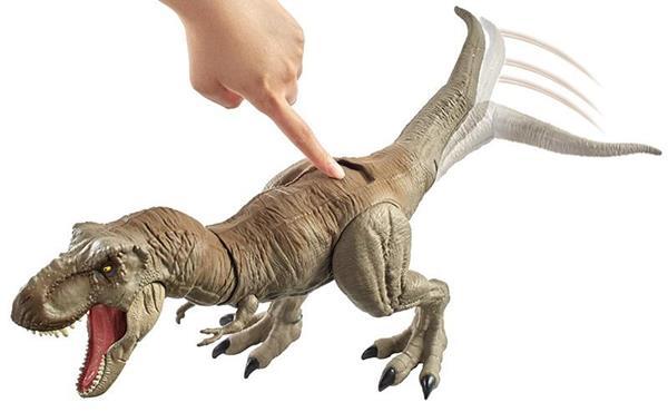 Dinosaurio T Rex Mega Ataque Jurassic World Mattel ¡este poderoso dinosaurio anda suelto y para peor tiene una ametralladora al cuello! dinosaurio t rex mega ataque jurassic world mattel