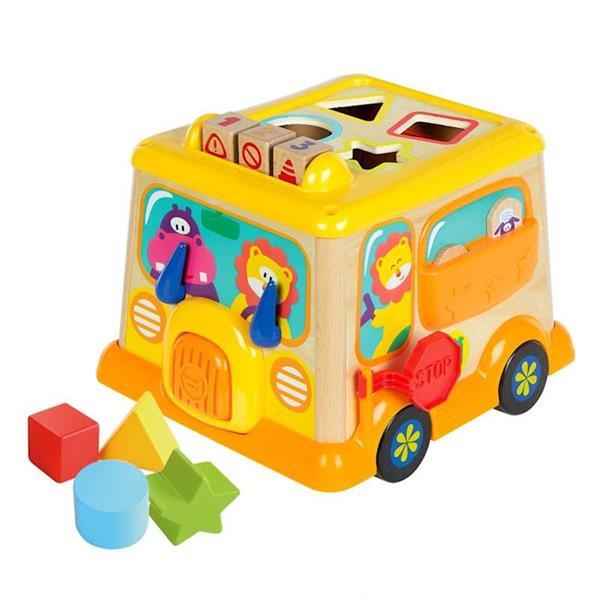 Imagen de Juguete de Madera Autobús Actividades Color Baby