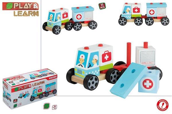 Imagen de Ambulancia de Madera Encajable Play & Learn