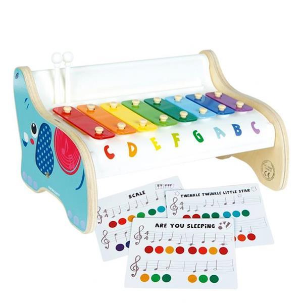 Imagen de Xilófono De Madera Con 3 Partituras Color Baby