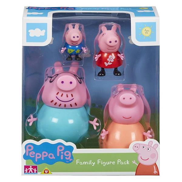 Figuras Familia Peppa Pig Pack 4 Bandai