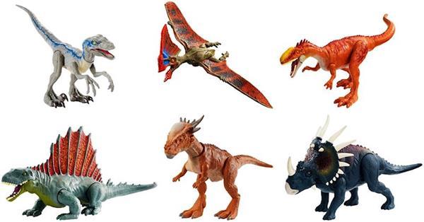 Dinosaurio Jurassic World Ataque Salvaje Mattel Los dinosaurios de jurassic world convertidos en divertidos juguetes. dinosaurio jurassic world ataque salvaje mattel