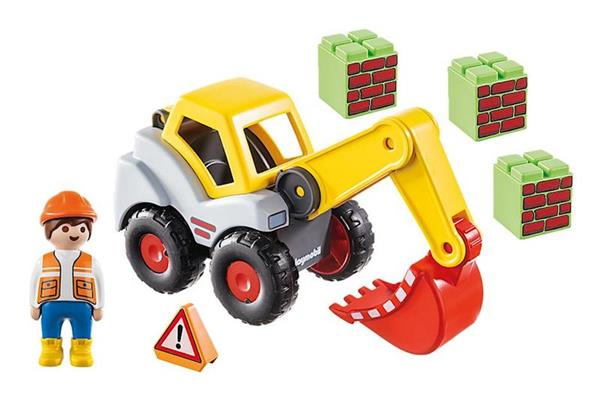 Imagen de Playmobil 1.2.3 Pala Excavadora
