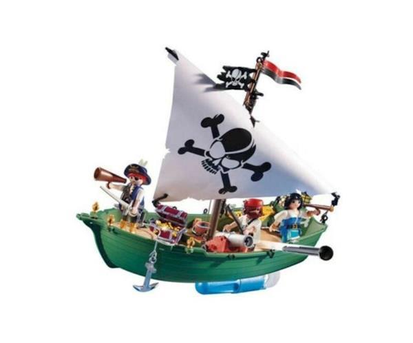 Imagen de Playmobil Piratas Barco con motor submarino