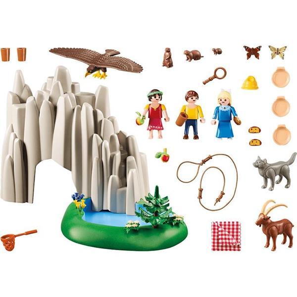 Imagen de Playmobil Heidi, Pedro y Clara con Lago