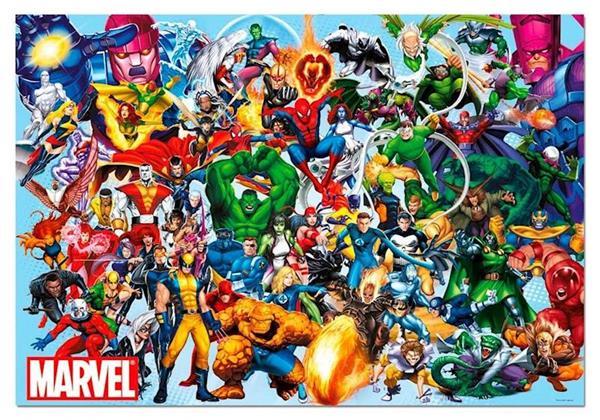 Imagen de Puzzle 1000 piezas Los Héroes de Marvel Educa