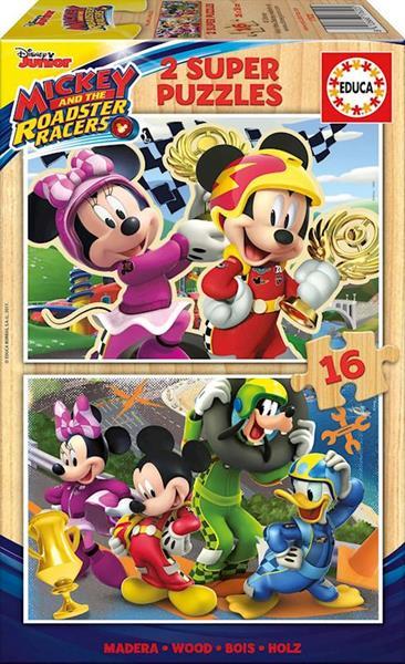 Imagen de Puzzle 2x16 piezas Mickey and The Roadster Racers Educa
