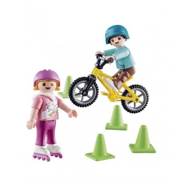 Imagen de Playmobil Special Plus Niños con Bici y Patines