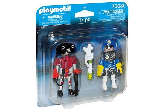 Imagen de PLaymobil Duo Pack Policia del Espacio y Ladrón