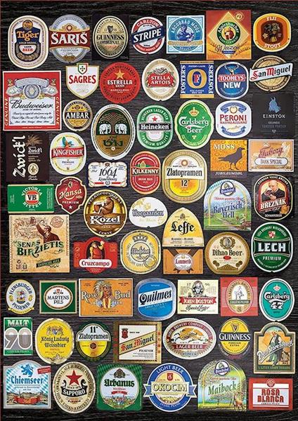 Imagen de Puzzle 1500 piezas Etiquetas de Cerveza Educa