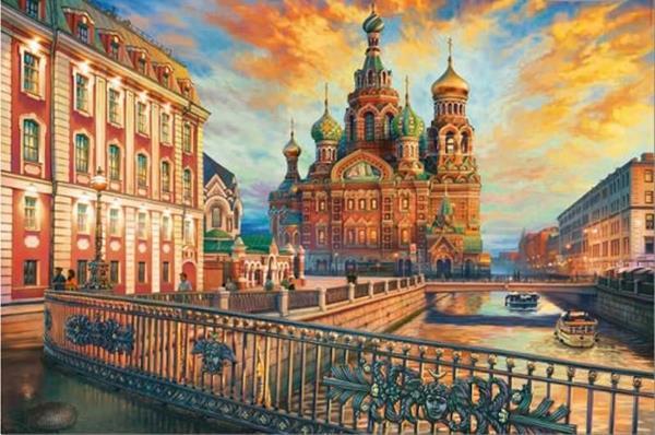 Imagen de Puzzle 1500 piezas San Petersburgo Educa