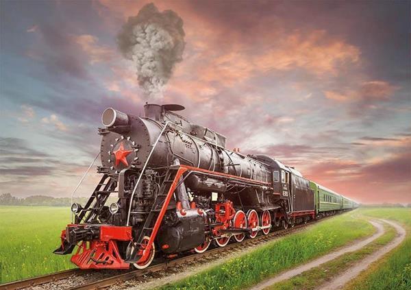 Imagen de Puzzle 2000 piezas Locomotora de Vapor Educa