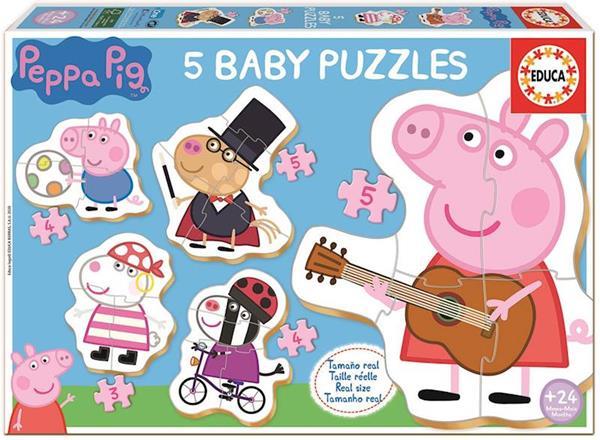 Imagen de Puzzle Baby Peppa Pig contiene 5 puzzles Educa