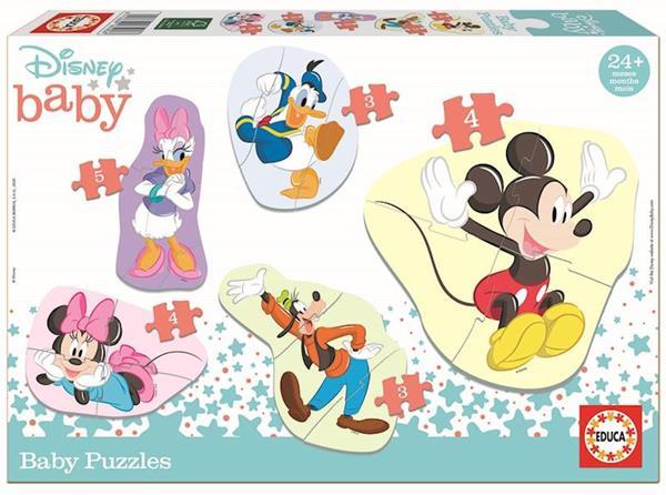 Imagen de Puzzle Baby Mickey & Friends contiene 5 puzzles Educa