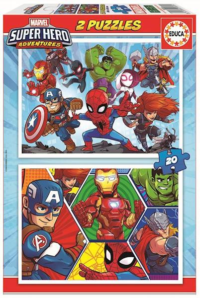 Imagen de Puzzle 2 x 20 Marvel Súper Héroe Aventuras