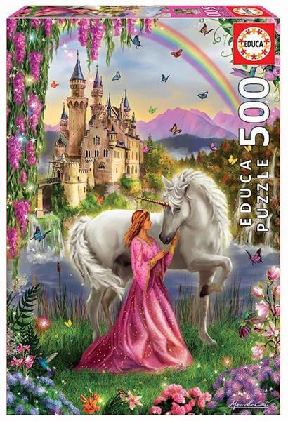 Imagen de Puzzle 500 piezas Hada y Unicornio