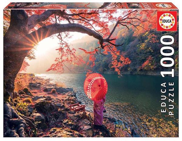 Imagen de Puzzle 1000 piezas Amanecer en Río Katsura Japón