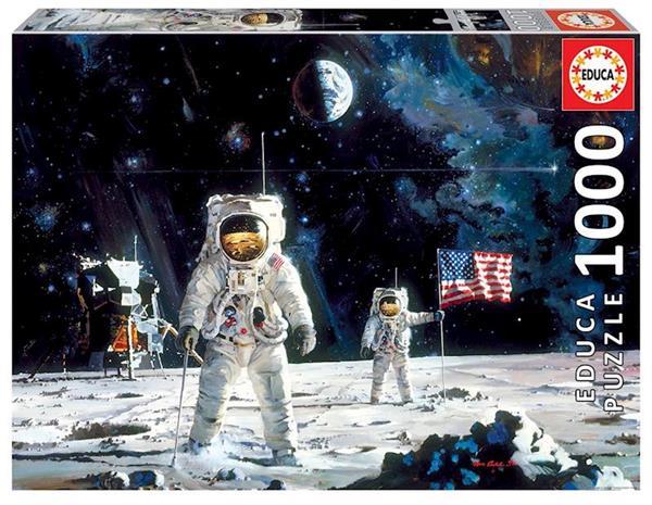 Imagen de Puzzle 1000 piezas First Men On The Moon, Robert Mccall