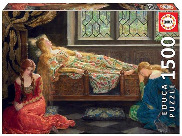 Imagen de Puzzle 1500 piezas Bella Durmiente John Collier
