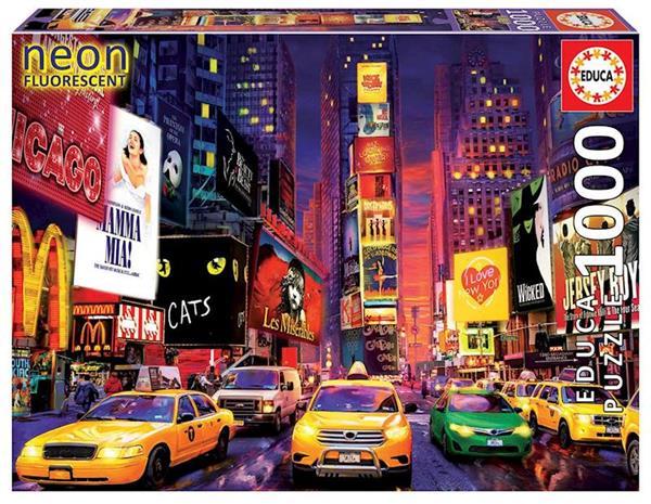 Imagen de Puzzle 1000 piezas Times Square, Nueva york Neon