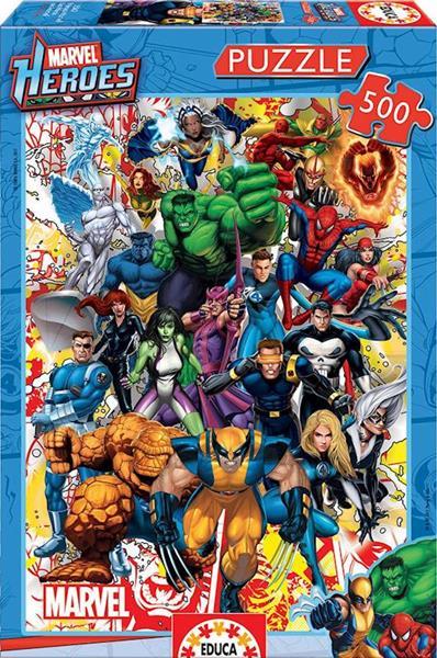 Imagen de Puzzle 500 Héroes Marvel Classic