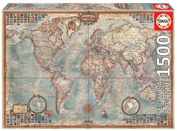 Imagen de Puzzle 1500 piezas El Mundo Mapa Político