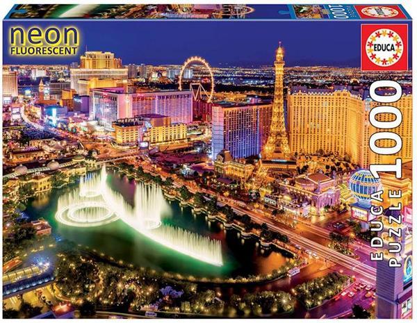 Imagen de Puzzle 1000 piezas Las Vegas Neon