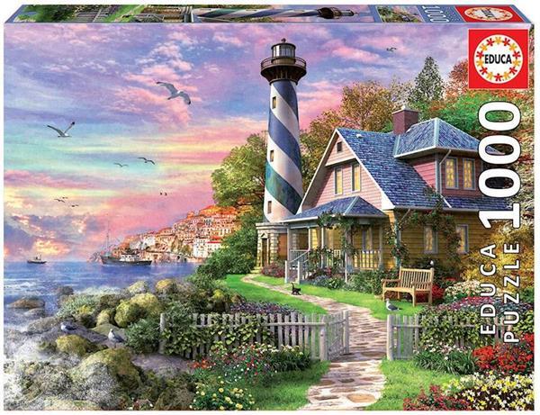 Imagen de Puzzle 1000 piezas Faro en Rock Bay