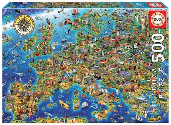 Imagen de Puzzle 500 piezas Mapa de Europa