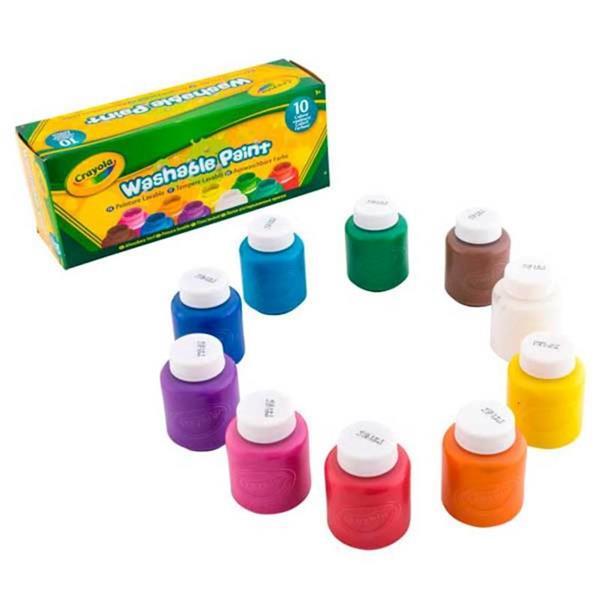 Imagen de 10 Témperas Lavables Colores Surtidos
