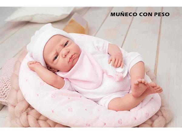 Imagen de Muñeca Elegance Edur Rosa Con Cojín de 40 cm