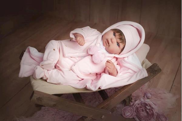 Imagen de Muñeca Reborn Blanca con Pelo