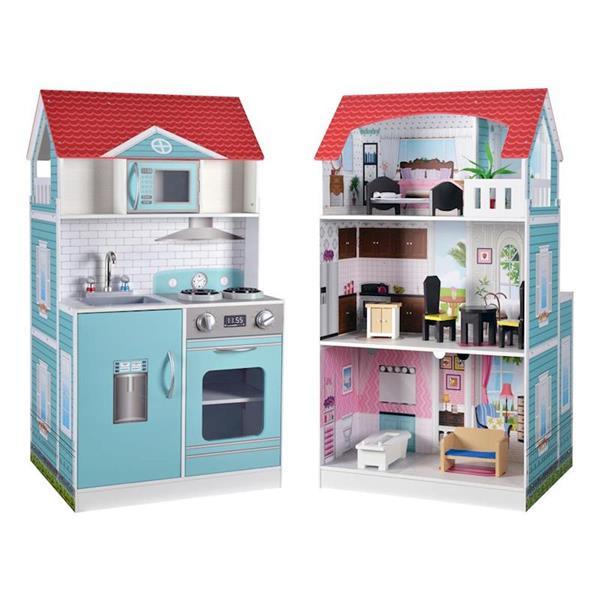Imagen de Cocina Infantil Casa De Muñecas 2 En 1