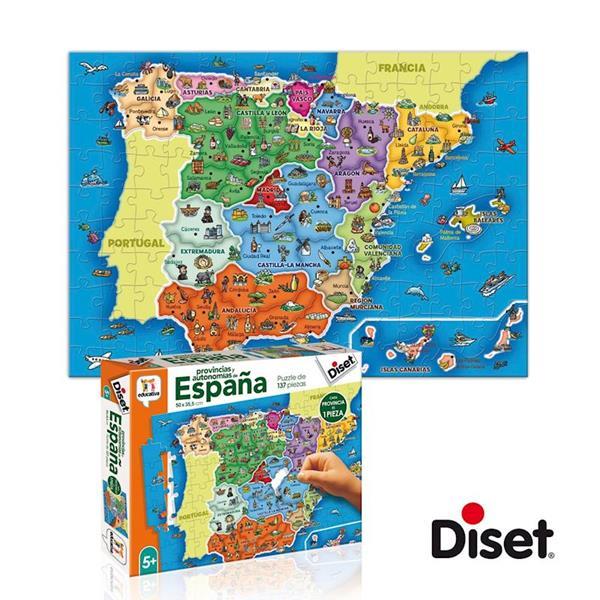 Imagen de Puzzle Educativo Provincias de España con 137 piezas