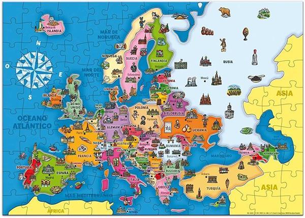 Imagen de Puzzle Países de Europa 125 Piezas