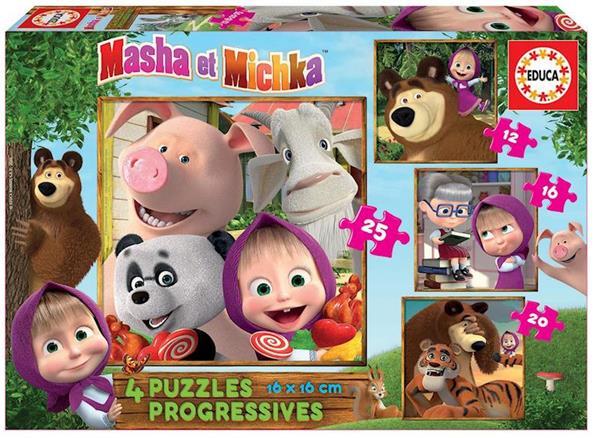 Imagen de Puzzles Progresivos Masha Y Micka