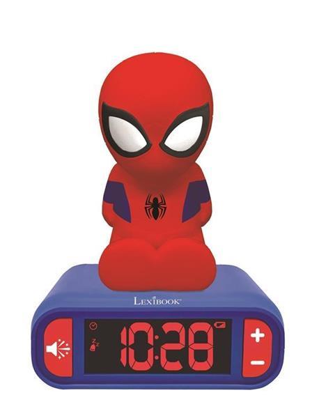 Imagen de Despertador Digital Spiderman con Radio y Luz 3D