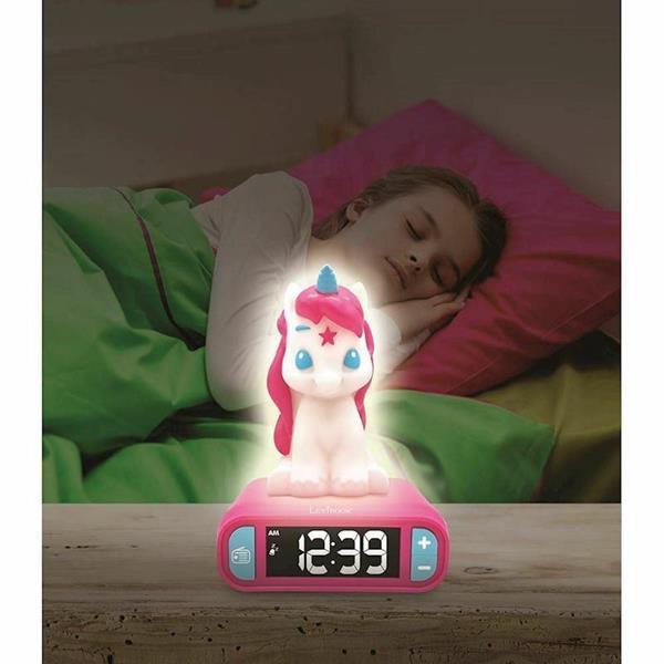 Imagen de Despertador Digital Unicornio con Radio y Luz 3D