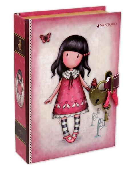 Imagen de Libro Joyero con Candado Gorjuss Time To Fly